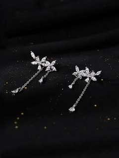 (PO) K-Drama: What is Wrong with Secretary Kim Crystal Floral Earrings
