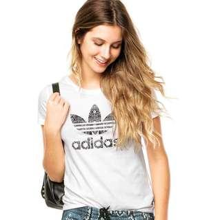 New With Tag ADIDAS ORIGINALS SNAKESKIN TREFOIL Tee Shirt (X SMALL)