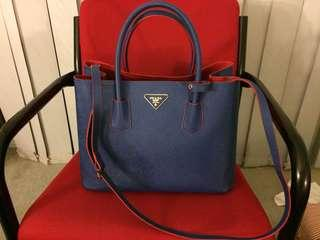 Prada Bag (blue and red)