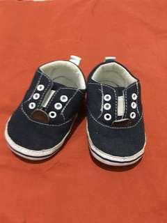 Crib Couture Navy Blue Shoes