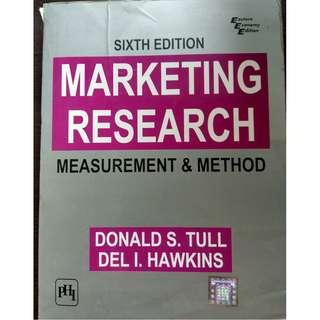 Marketing Research: Measurement & Method (6th edition) by Donald S. Tull, Del I. Hawkins [Paperback]