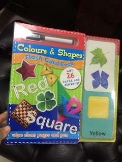 Colour and Shapes Flash Card Book