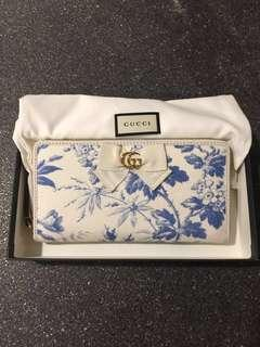 Rare Authentic Japan only limited Gucci GG Ribbon Zip Around Wallet Purse Item