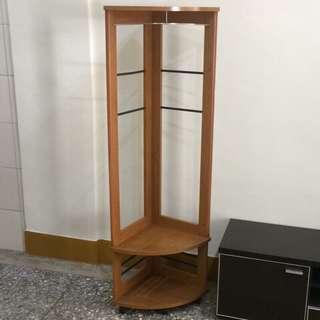 黃金柚木色轉角活動置物櫃.桌邊櫃.音響櫃