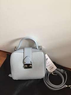 BN Urban Revivo blue crossbody studs box bag / top handle sling bag