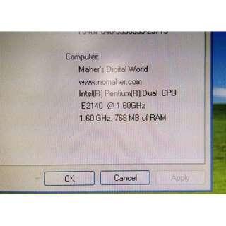 Intel Pentium desktop