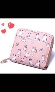 超人氣 粉紅貓貓錢包