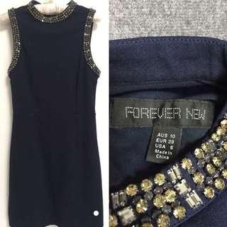 Forever New navy glam dress