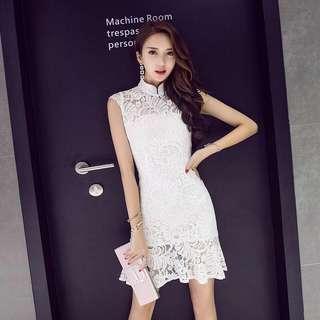 Modern Lace Cheongsam