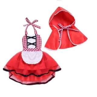 Little Red Riding Hood Baby Costume Cosplay Photoshoot Wolf
