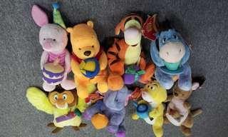 一套8隻 小熊維尼 winnie the pooh & friends