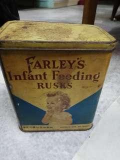 TIN BABY FARLEYS LAMA.. EMPAT BAHASA .. MADE IN ENGLAND RM35 SIAP POS