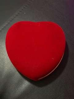 Red Jewellery Heartshape Box : Jewelry