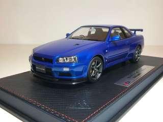 1/18 MakeUp IDEA R34 Skyline GT-R Spec II 樹脂模型