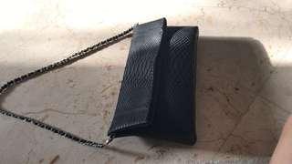 Black (python skin?) bag