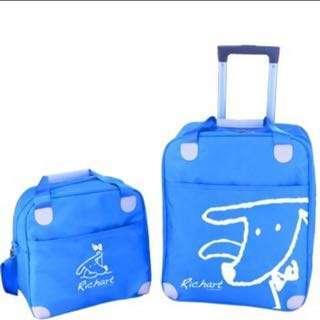 🚚 Richart 沁藍母子拉桿行李箱