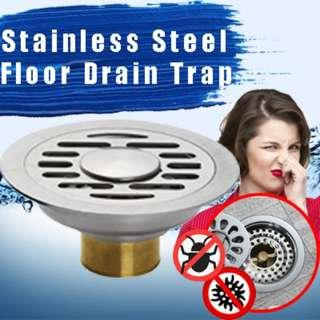 🚚 Stainless Steel Floor Drain Trap Smell Proof and Pest Away