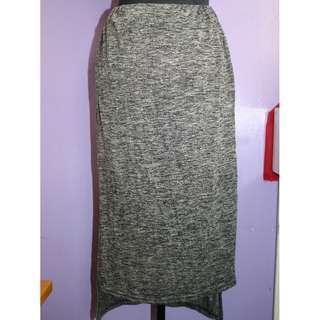 Long Back Gray Skirt