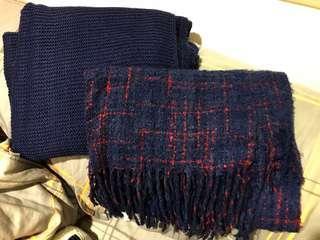 圍巾 兩條 100