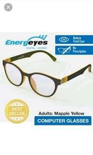 Energeyes Computer Glasses / Spectacle / protect eyes against digital blue light / New