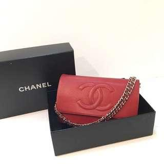 Chanel original Chanel woc Caviar +silver hardware Come with authentic card ,box ,original receipt ,boughy 2013,Excellent condition,95%new
