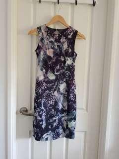 Floral bodycon dress XS