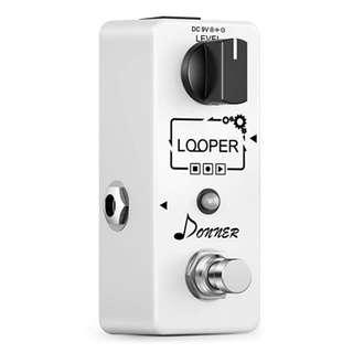 Donner Looper Effects Pedals Unlimited Overdubs 10 Minutes of Looping ------ 1121