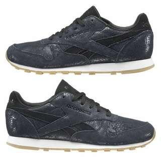 Reebok BS8229 Leather blue exotic women classic sneaker