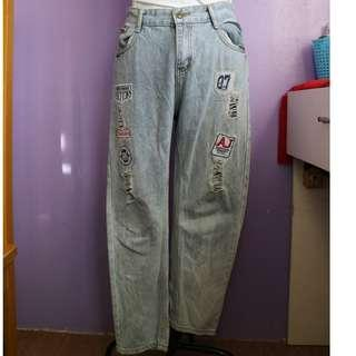 BF Jeans Tattered with Patches