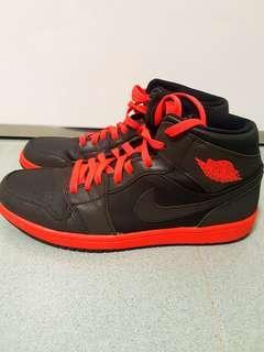Air Jordan Mid 1 Black Reflective