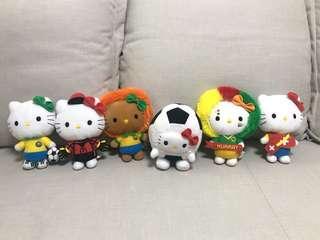 Hello Kitty 麥當勞世界盃系列 公仔