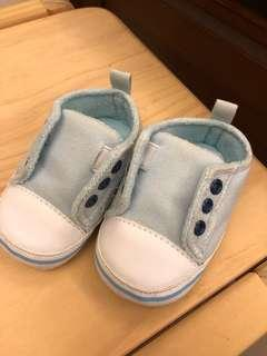 Luvable friends 水藍色免穿鞋帶嬰兒防滑學步鞋
