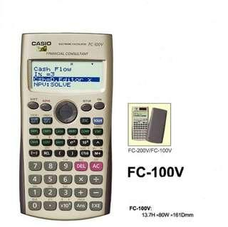 FC100v Casio Financial calculator FC-100v for real estate exam