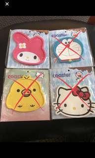 Cartoon Coasters - Melody, Hello Kitty, Doremon & Yellow Chick