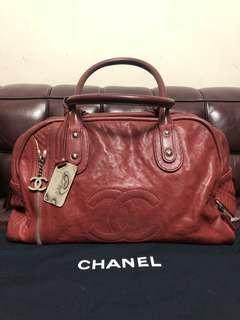 Chanel leather Boston bag used rare