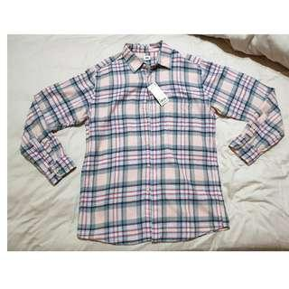 NEW Uniqlo Men Flannel Checked Long Sleeve Shirt (Size XL)