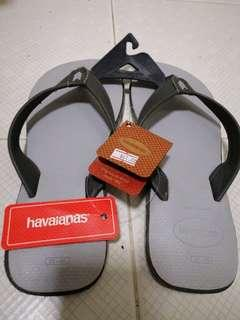 havaianas slipper grey genuine leather new