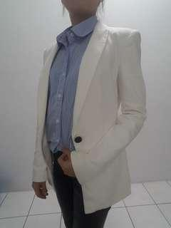 Zara white blazer/white coat