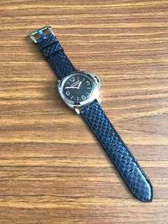 26mm/24mm Authentic Lonestar Atlantic Blue Python 🐍 Watch Strap 🌟