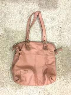 ⚡️MARKDOWN⚡️Lancaster Nude Pink Large ZIP Up Tote
