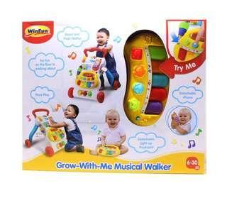 WinFun Grow-with-me Musical Walker