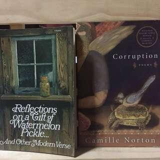 2 Modern Poetry Books