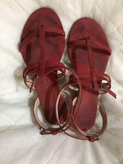 CLN Red Sandals