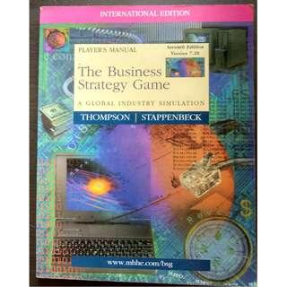 Player's Manual - The Business Strategy Game - A Global Industry Simulation (Version 7.20) -  Arthur A. Thompson, Jr; Gregory J. Stappenbeck