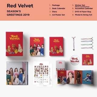 WTS Red Velvet Seasons Greetings Items