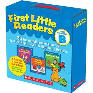 SALE! BRAND NEW First Little Readers Parent Pack: Guided Reading Level B: 25 Irresistible Books That Are Just the Right Level for Beginning Readers Paperback