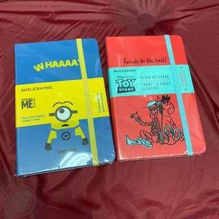 Moleskine x Minions /Toy Story notebook $190each📓