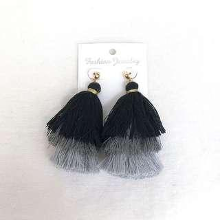 Layered Monochrome Earrings