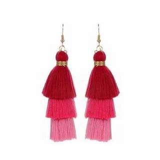 Three Level Tassel Earrings