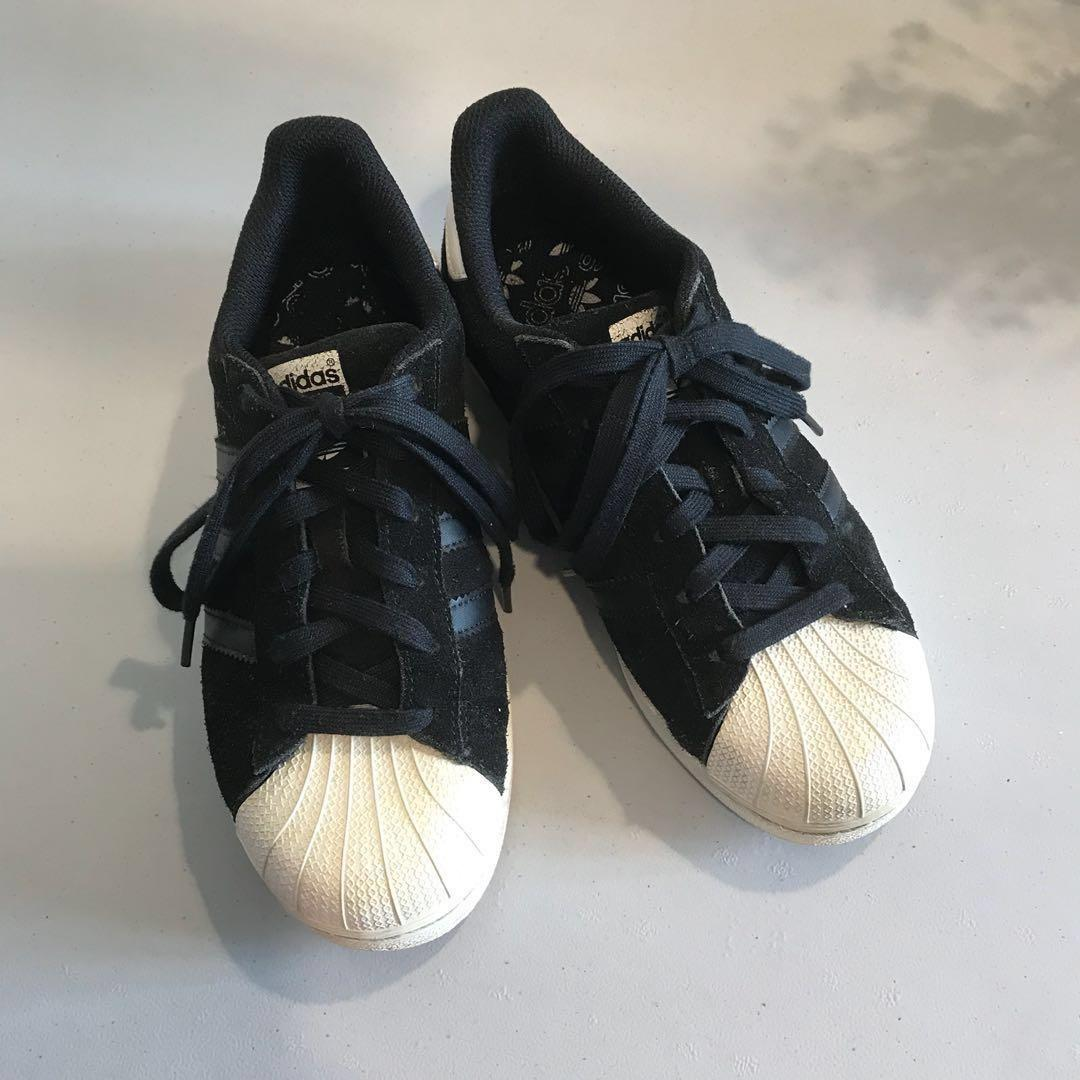 Adidas Superstar All Black Suede, Women